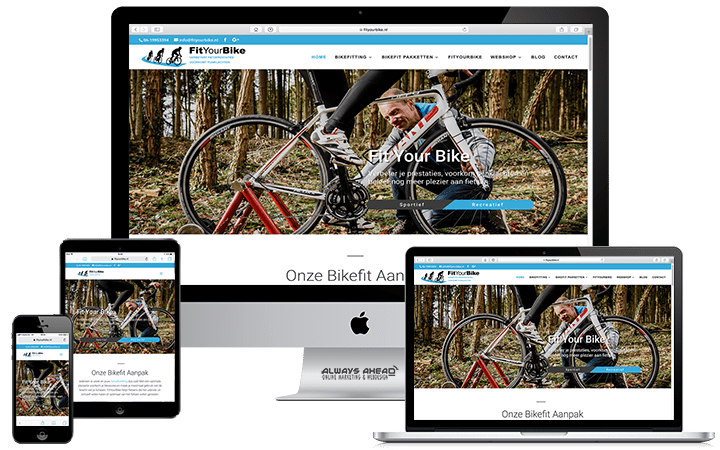 FitYourBike webdesign portfolio - Always Ahead