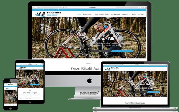 FitYourBike webdesign portfolio - Always Ahead