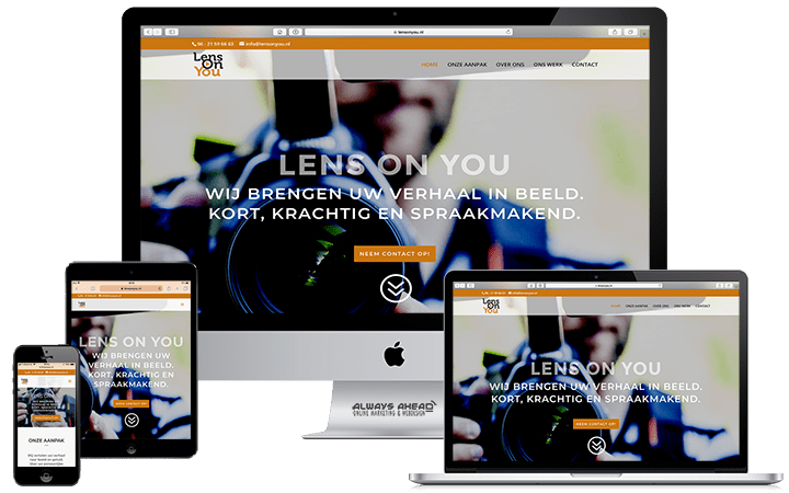 Lens On You webdesign portfolio - Always Ahead