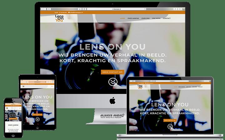 Lens On You webdesign portfolio - Always Ahead