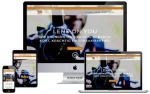 Webdesign website Lens on You
