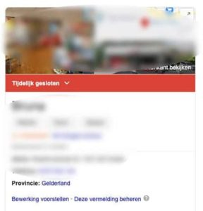 Google melding tijdelijk gesloten desktop - Always Ahead Online Marketing en Webdesign