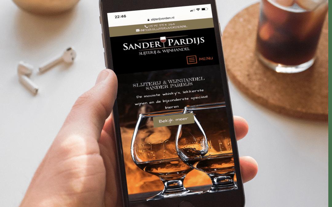 Nieuwe website Slijterij en Wijnhandel Sander Pardijs - Always Ahead